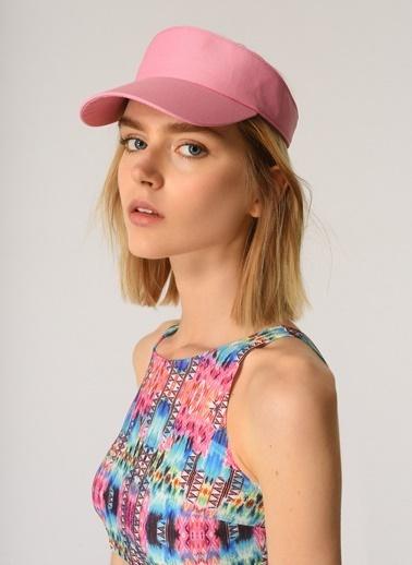 Morhipo Beach Kadın Renkli Kasket Şapka MBKSS21SP0007 Pembe